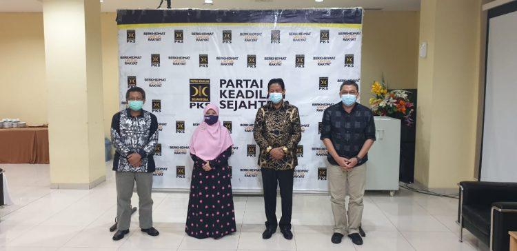 Isdianto bersama Suryani saat memenuhi undangan DPP PKS di Jakarta, Rabu (15/7/2020)